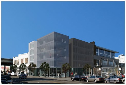 Rendering for Modern Condos to go on the site of the Eagle -- as Reported on Socketsite