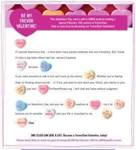 Trevor Project Valentine Challenge